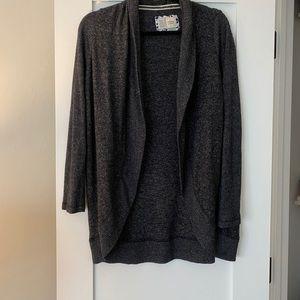 Charcoal gray soft cardigan